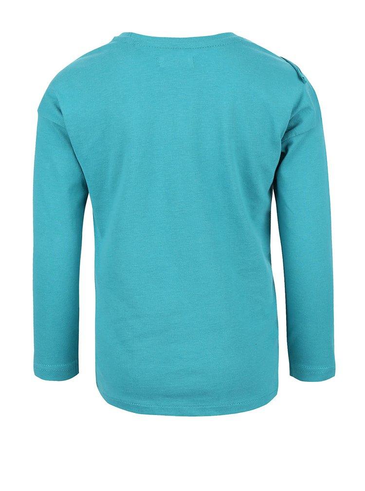 Bluză cu print din bumbac Blue Seven pentru fete