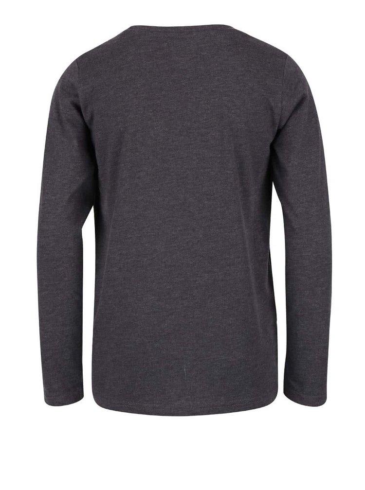 Tmavosivé chlapčenské tričko s okrúhlym výstrihom Blue Seven