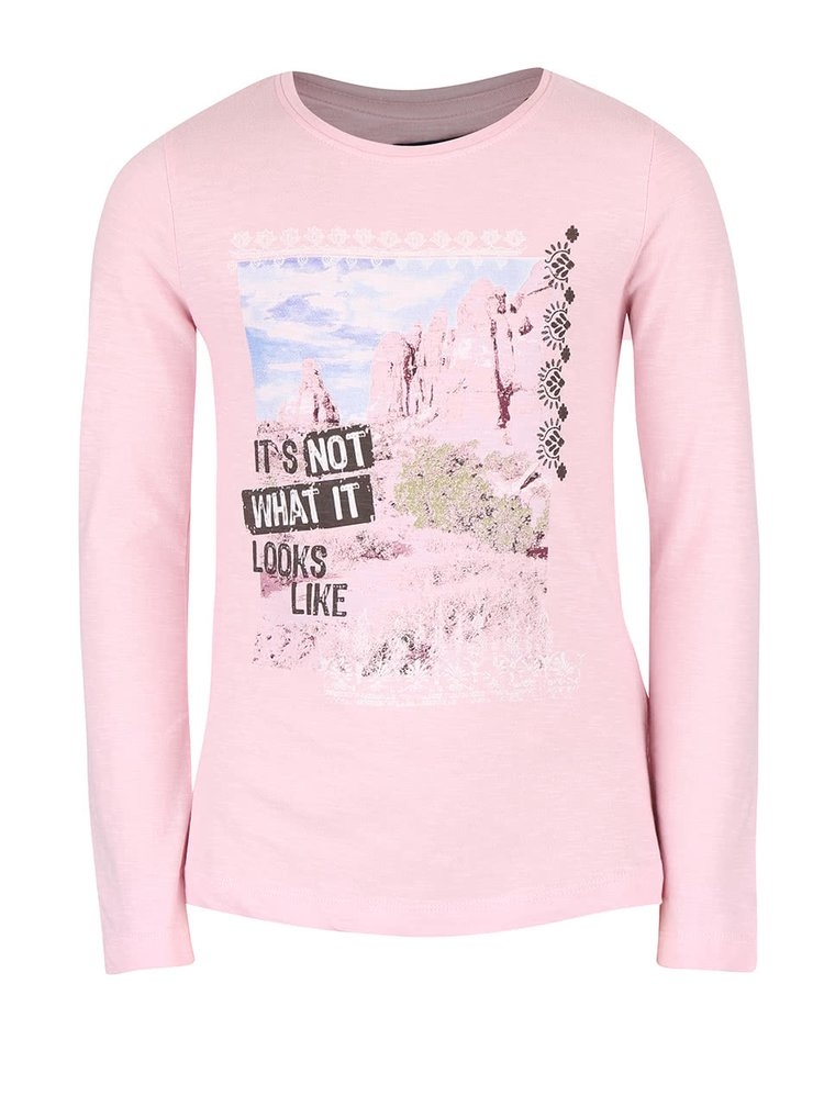 Světle růžové holčičí tričko s potiskem Blue Seven