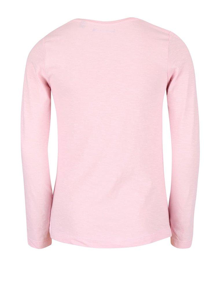Svetloružové dievčenské tričko s potlačou Blue Seven