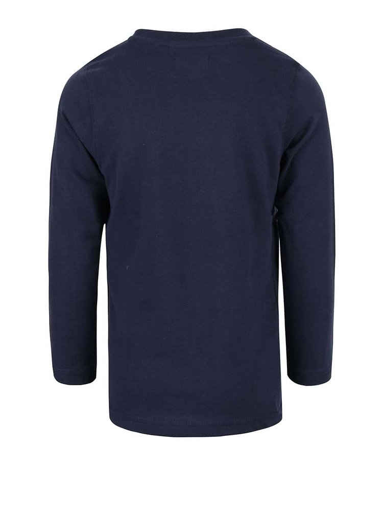 Bluză albastră cu print Blue Seven de băieți