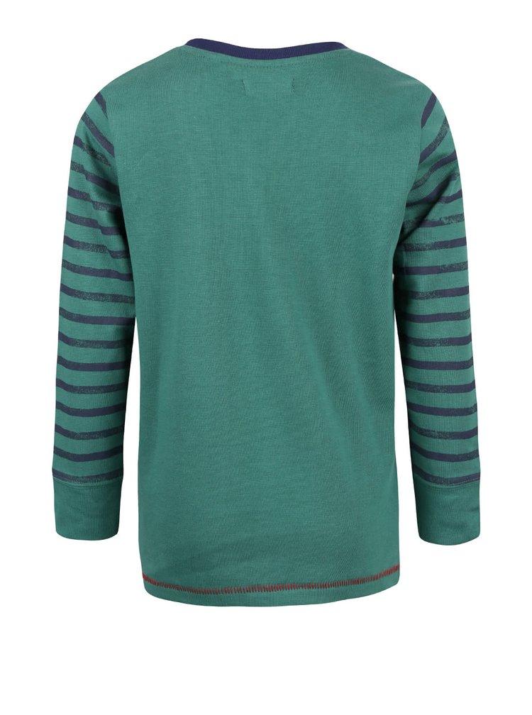 Bluză verde cu print Blue Seven de fete