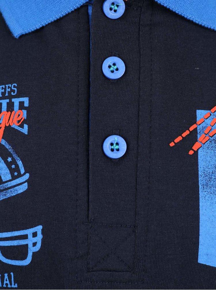 Tmavomodrá chlapčenská polokošeľa s dlhým rukávom Blue Seven