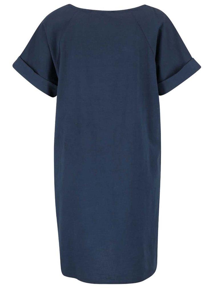 Tmavomodré šaty s krátkym rukávom ZOOT Simple