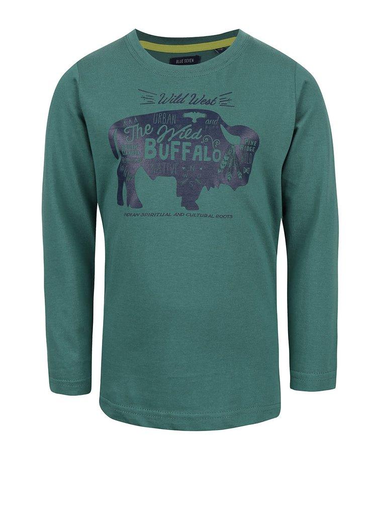 Tmavě zelené klučičí tričko s westernovým motivem Blue Seven