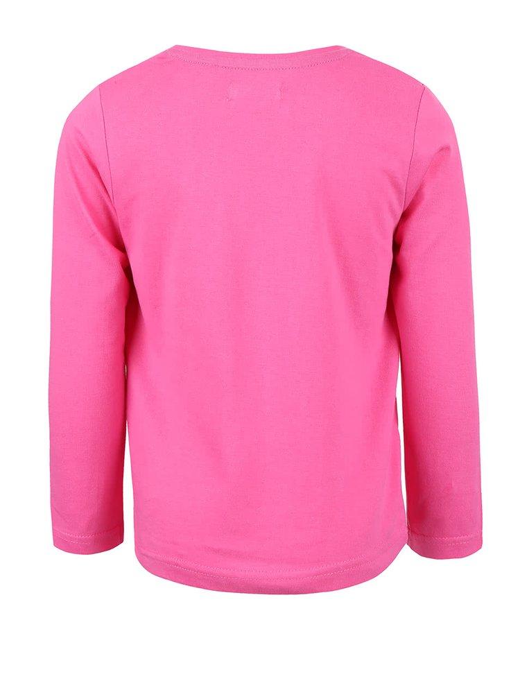 Bluză roz cu print Blue Seven de fete