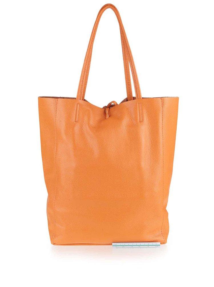 Geantă portocalie ZOOT Simple din piele