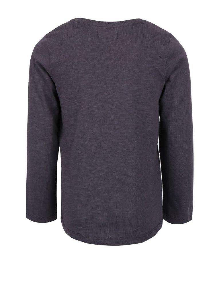 Bluză gri închis din bumbac Blue Seven pentru fete