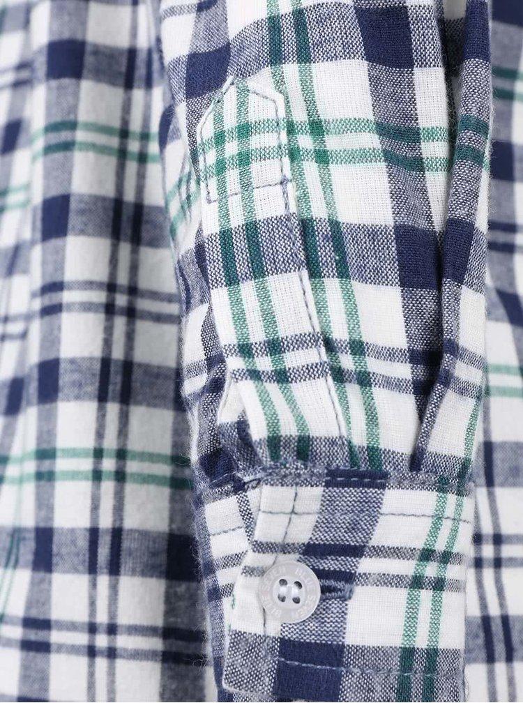 Sivo-krémová chlapčenská károvaná košeľa Blue Seven