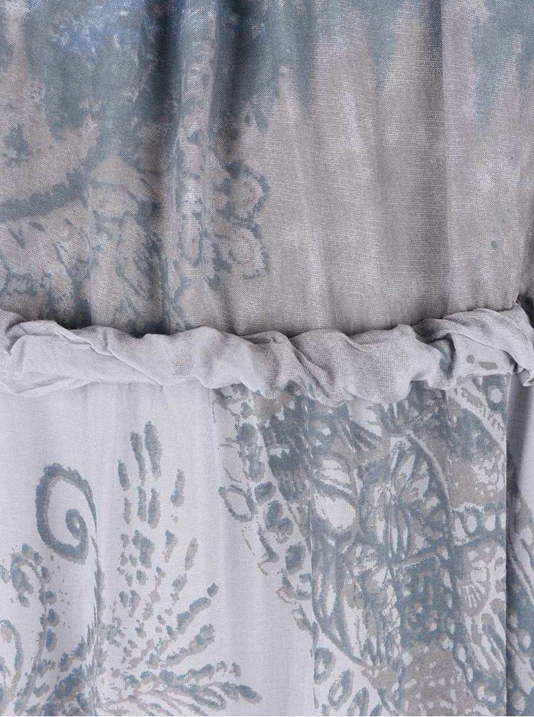 Modro-šedé vzorované maxišaty na ramínka ZOOT Now