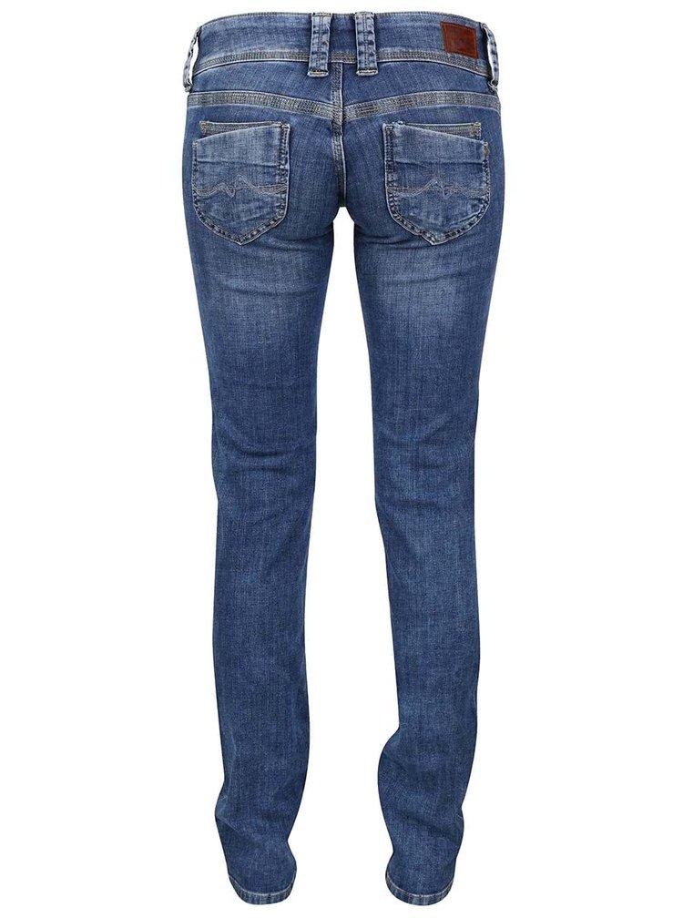 Modré dámske rifle s nízkym pásom Pepe Jeans Venus