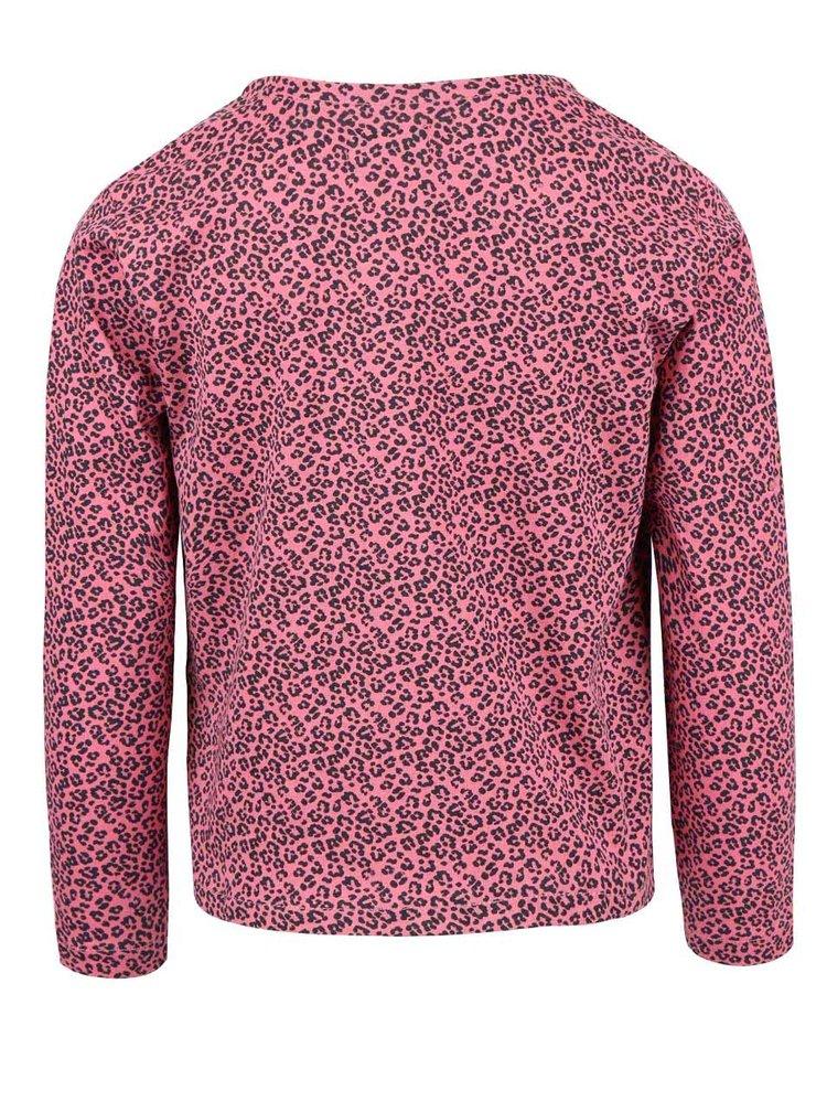 Růžový holčičí cardigan s leopardím vzorem Blue Seven