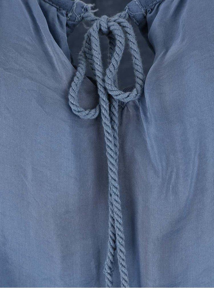 Modré šaty s průstřihy na ramenou ZOOT Simple