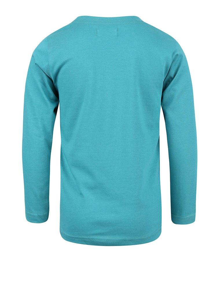 Bluză turcoaz cu print Blue Seven de băieți