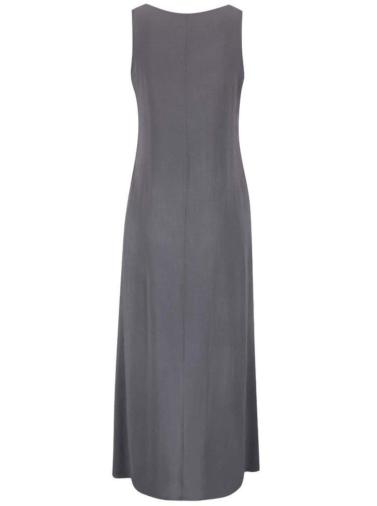 Tmavosivé šaty ozdobené flitrami ZOOT Now