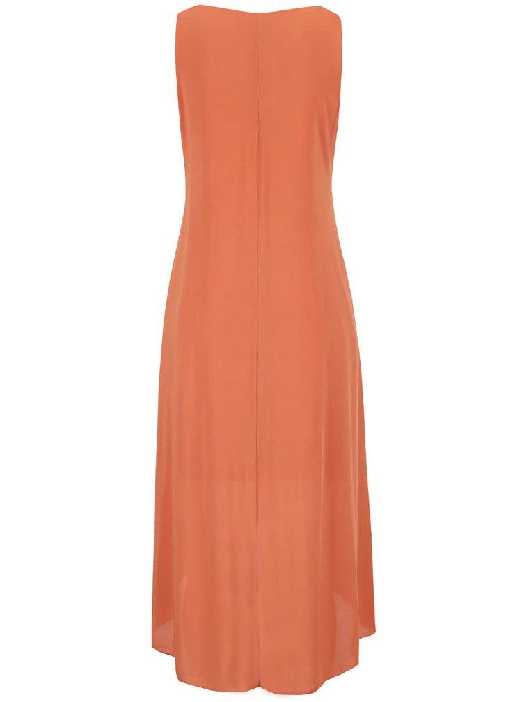 Oranžové šaty ozdobené flitrami ZOOT Now