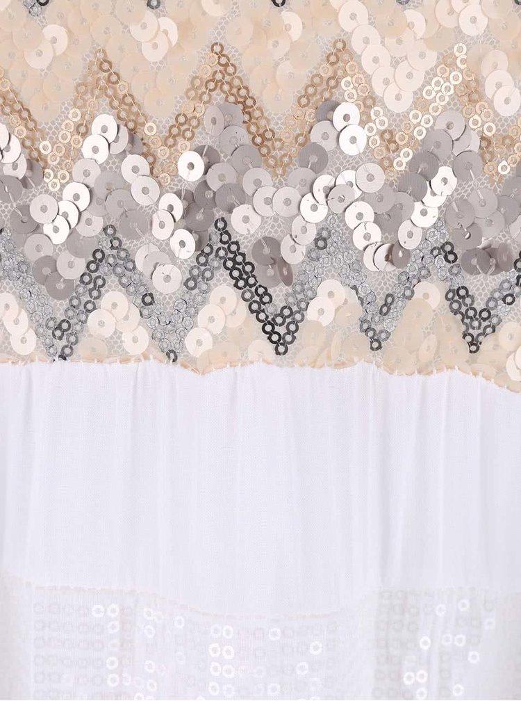 Bílé šaty ozdobené flitry ZOOT Now