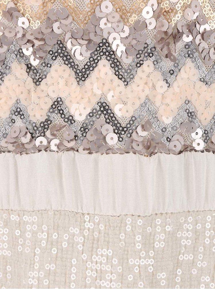 Sivo-krémové tielko ozdobené flitrami ZOOT Now