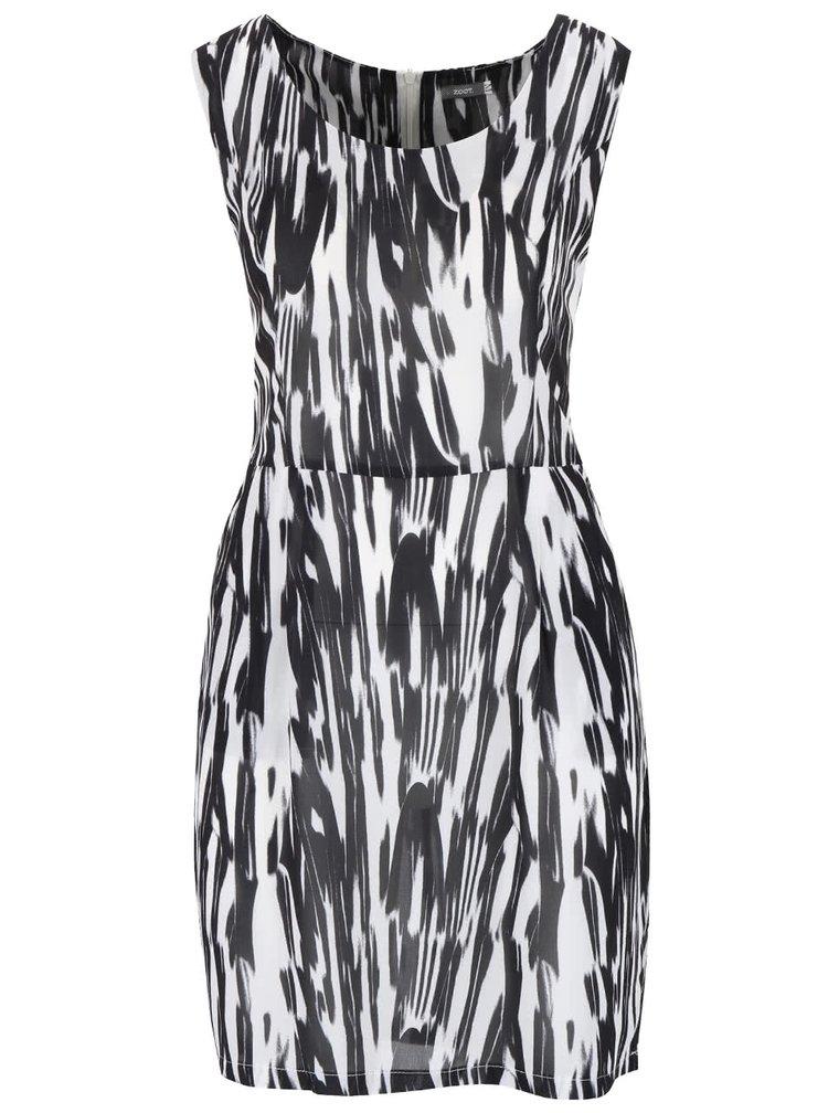 Čierno-biele melírované šaty bez rukávov ZOOT Now