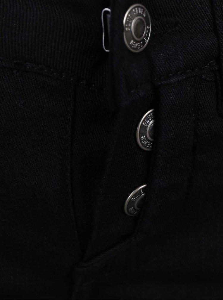 Pantaloni negri pentru băieți Blue Seven cu nasturi decorativi