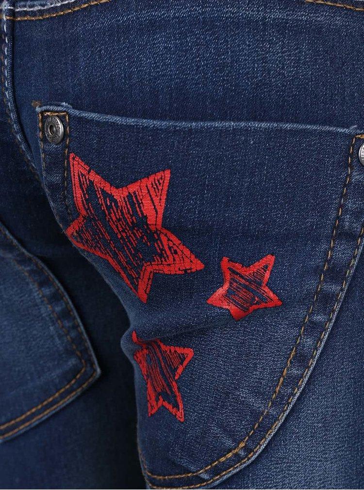 Blugi bleumarin pentru băieți Blue Seven cu elastic pentru ajustare