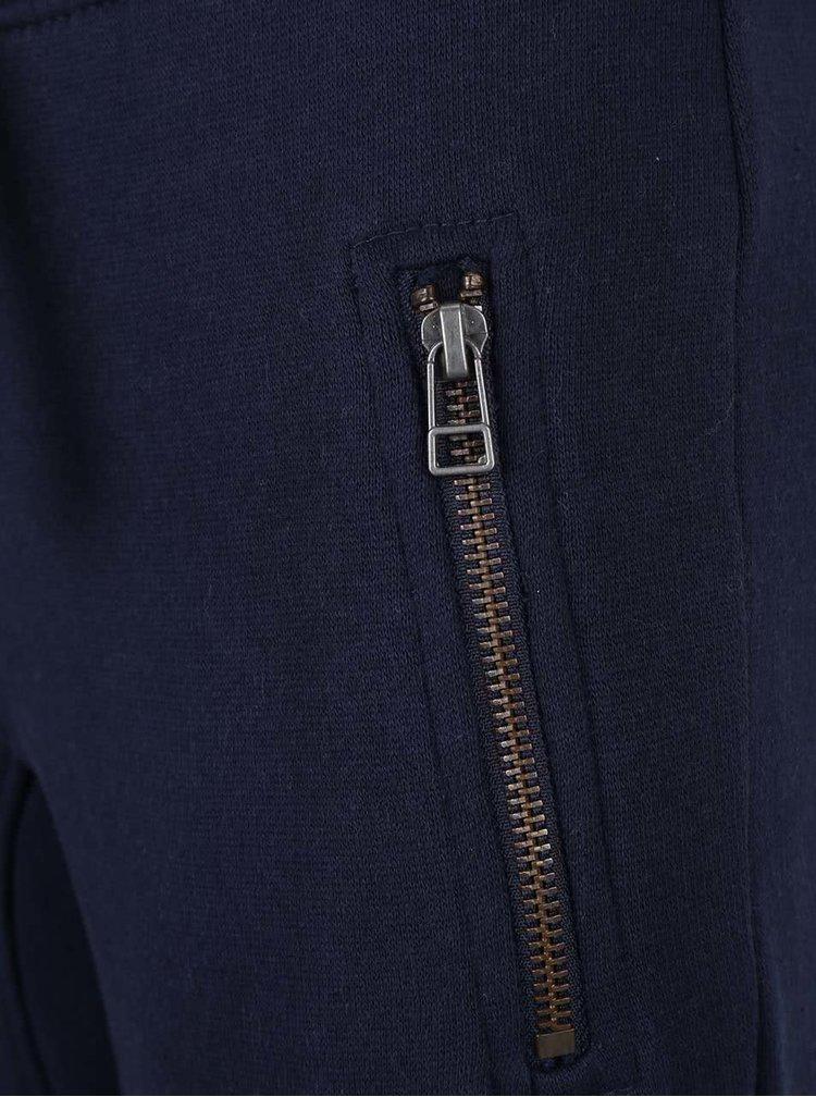 Tmavě modré klučičí tepláky se stažením v pase Blue Seven