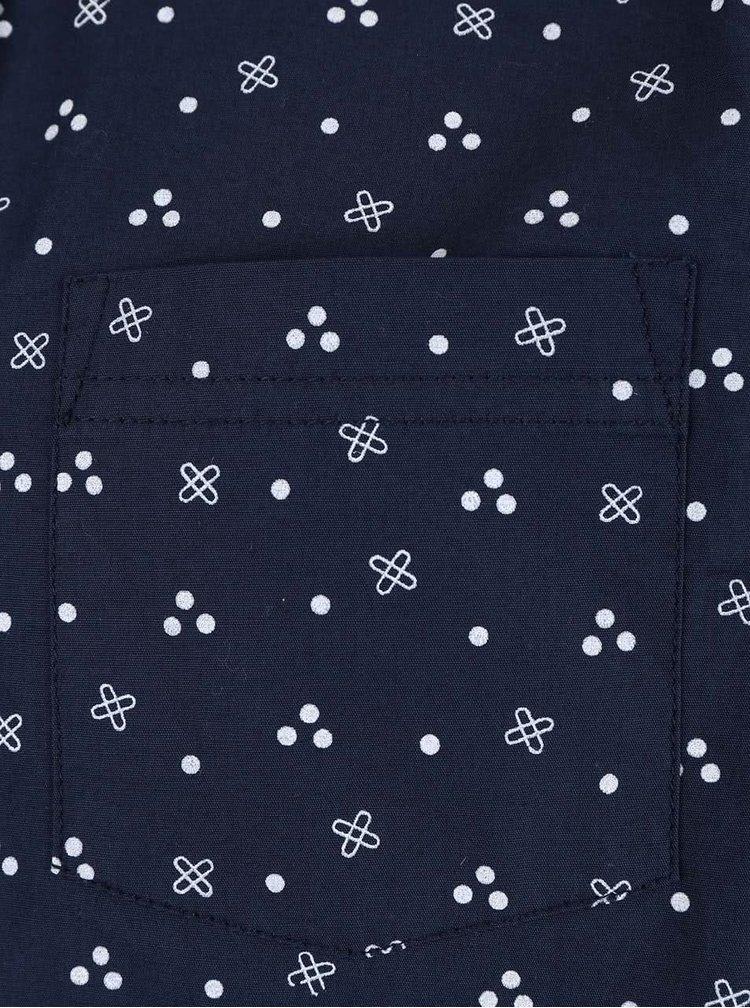Tmavomodrá chlapčenská vzorovaná košeľa Blue Seven