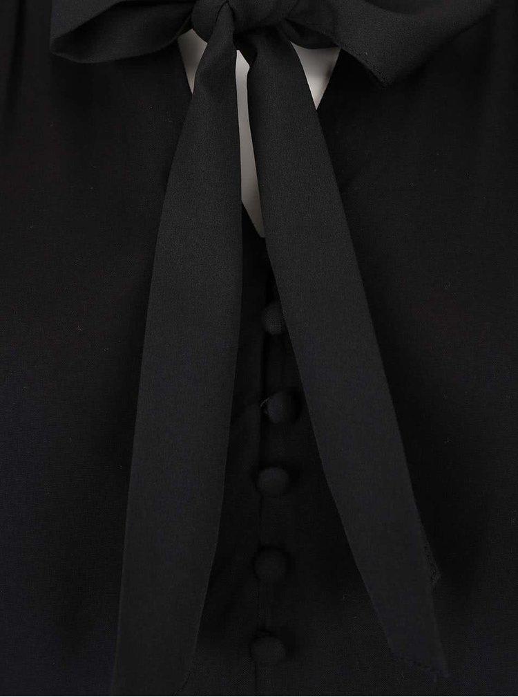 Černá halenka s mašlí VERO MODA Dina