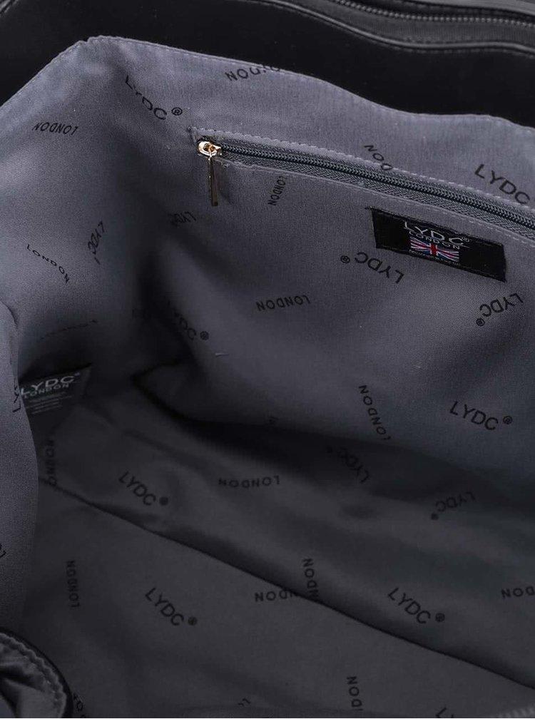 Čierno-biela väčšia kabelka so sponou LYDC