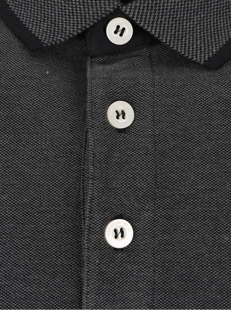 Tmavě šedé polo tričko Jack & Jones Paulos