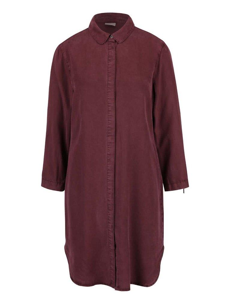 Rochie cămașă roșu burgund VERO MODA Alexia