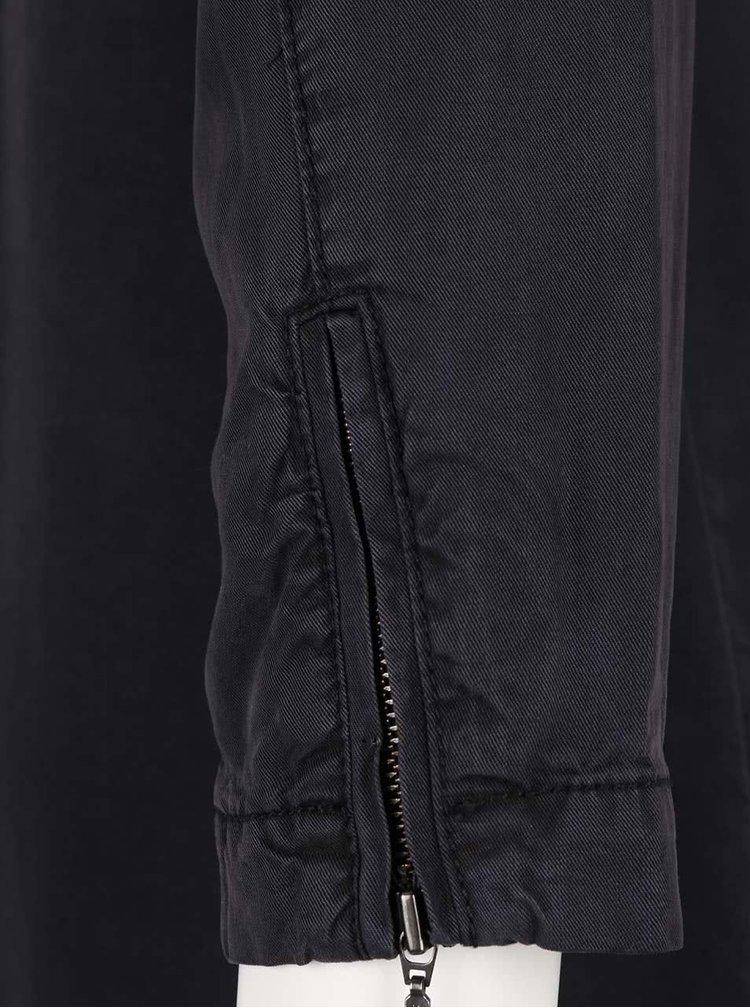 Černá dlouhá košile VERO MODA Alexia