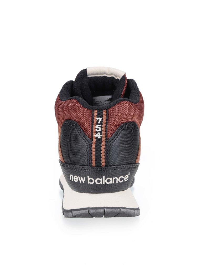 Černo-hnědé pánské kožené tenisky New Balance