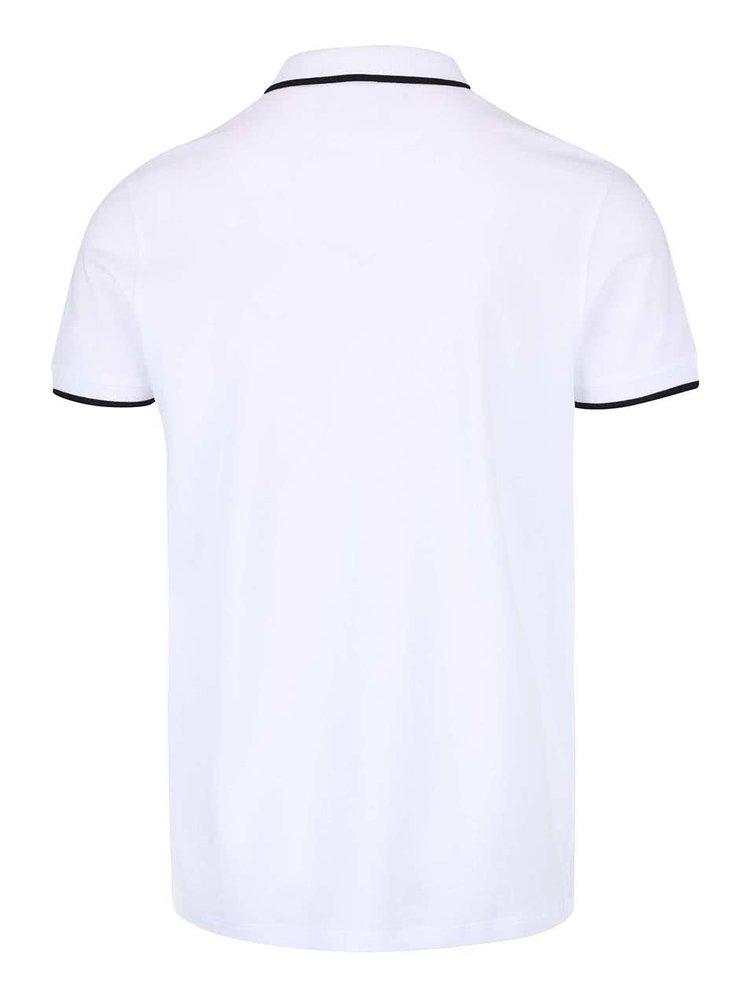 Bílé polo triko Jack & Jones Paulos