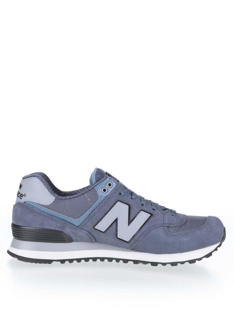 Modro-šedé pánské kožené tenisky New Balance