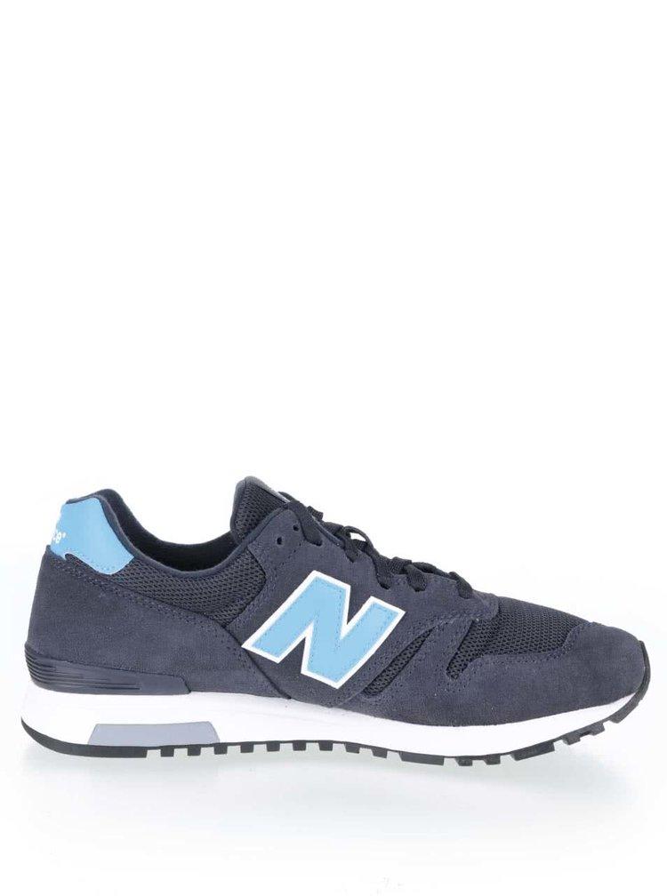 Modro-sivé pánske kožené tenisky New Balance
