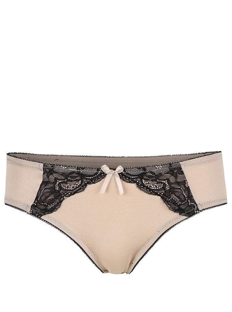 Tělové kalhotky s černou krajkou ICÔNE Lila