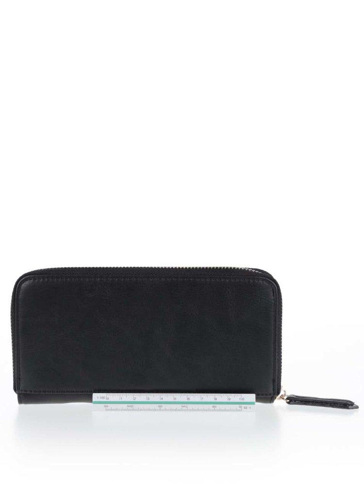 Čierna peňaženka so vzorom LYDC