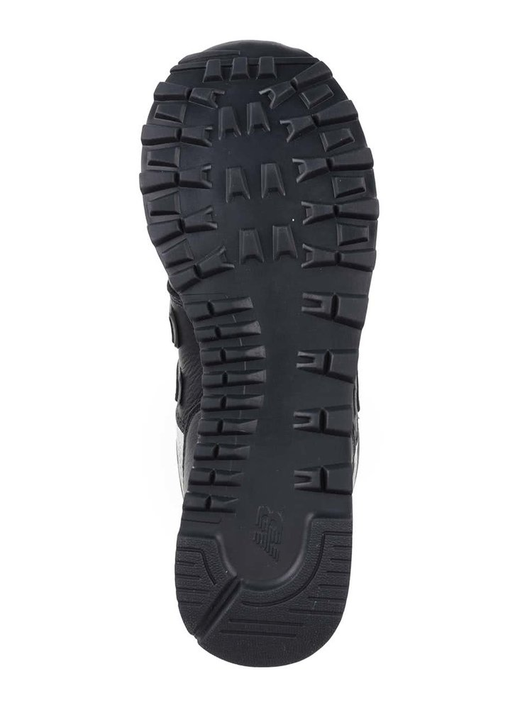 Pantofi sport negri&crem din piele naturala pentru barbati - New Balance 574