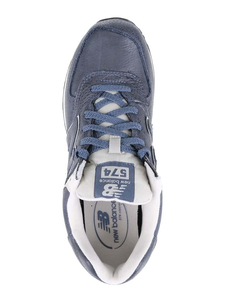 Krémovo-modré pánské kožené tenisky New Balance