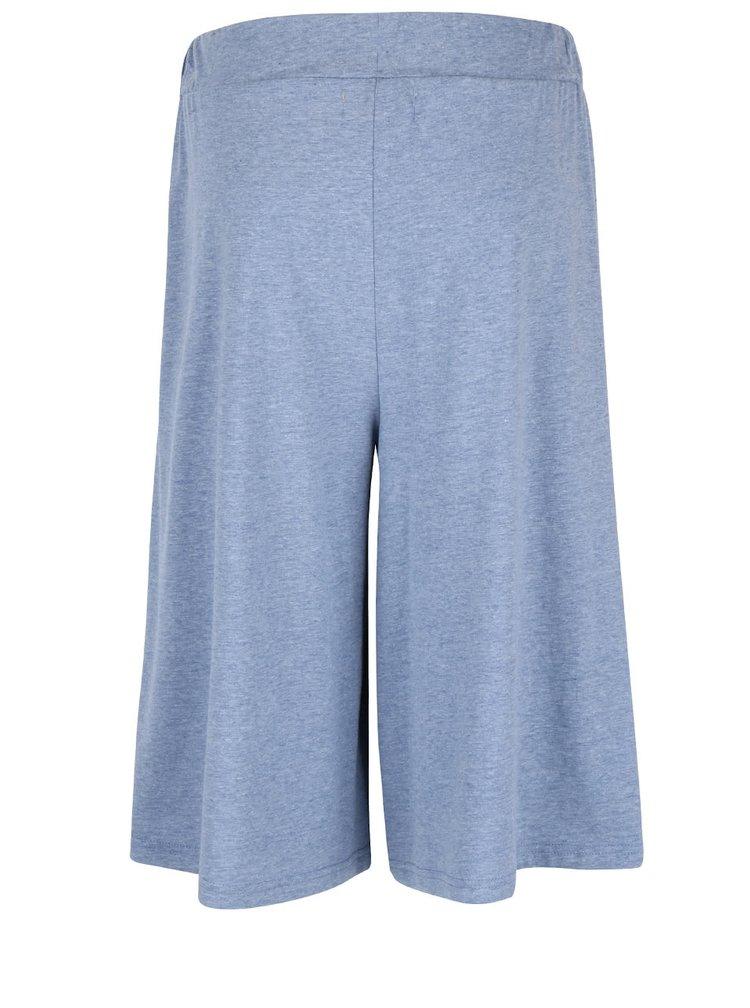 Pantaloni capri albastri cu croi amplu VERO MODA Evie
