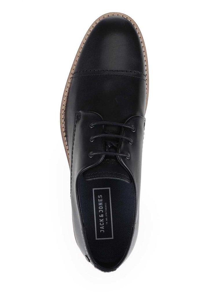 Pantofi negri Jack & Jones Billy din piele