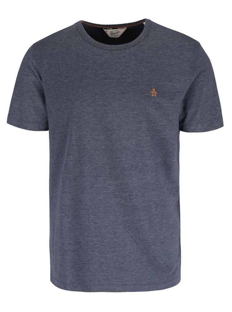 Sivomodré melírované tričko Original Penguin Jersey