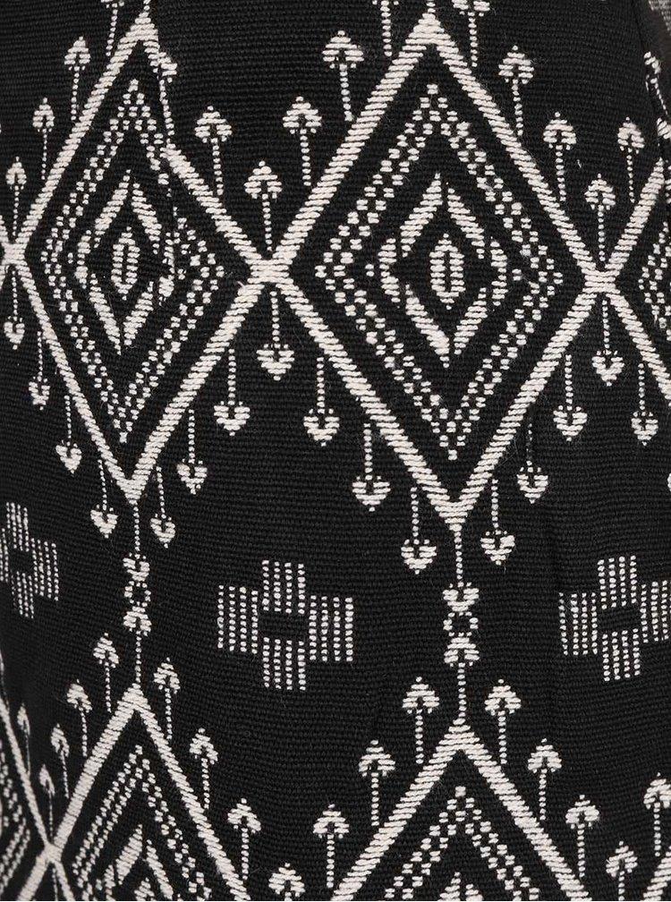 Černá vzorovaná sukně VERO MODA Malena
