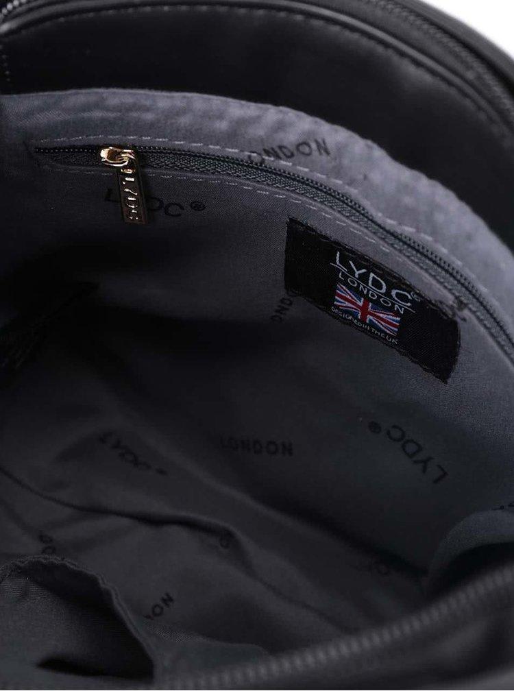 Černo-bílá menší kabelka se sponou LYDC