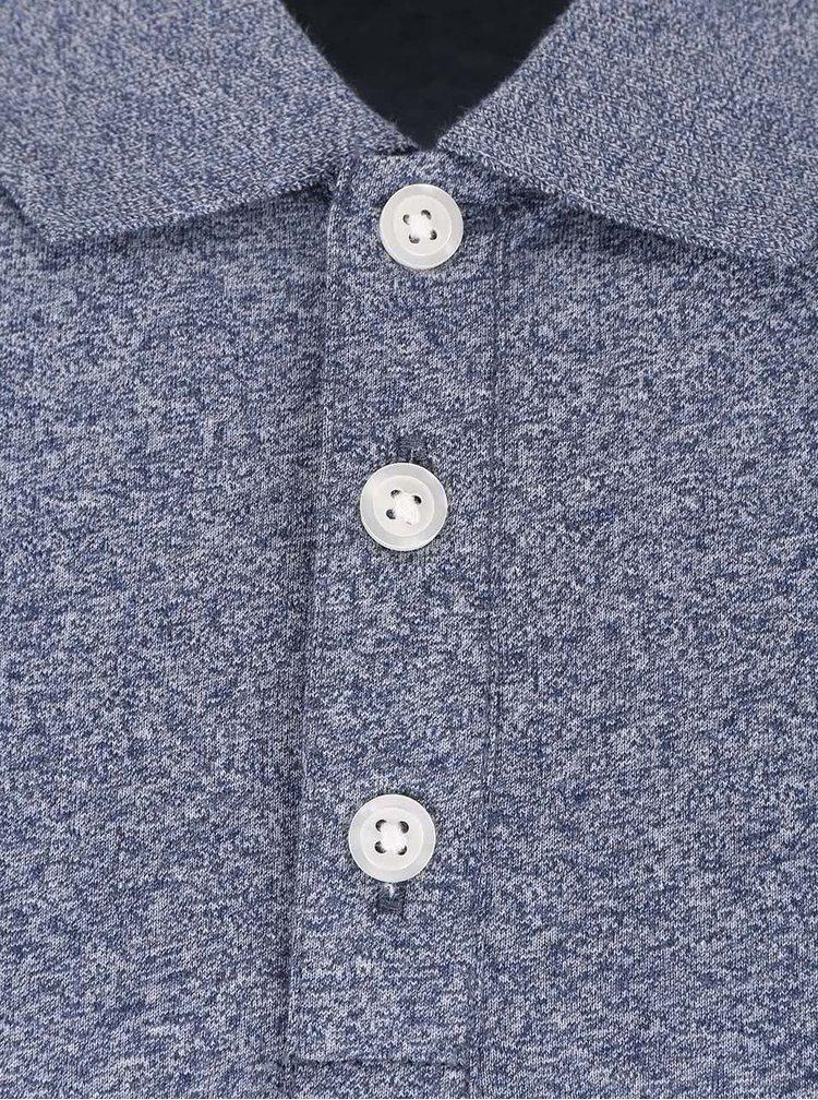 Šedomodré žíhané polo triko Original Penguin Jaspe