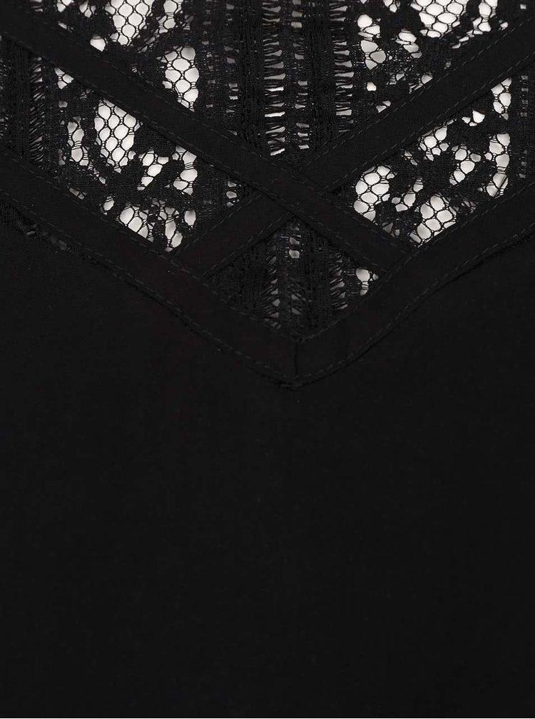 Černá halenka s krajkou VERO MODA Kate