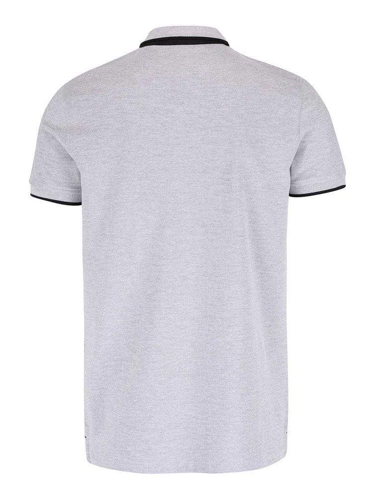 Světle šedé polo tričko Jack & Jones Paulos