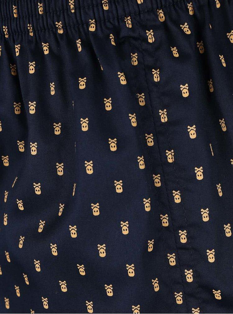 Tmavě modré vzorované trenýrky Represent Mikebox