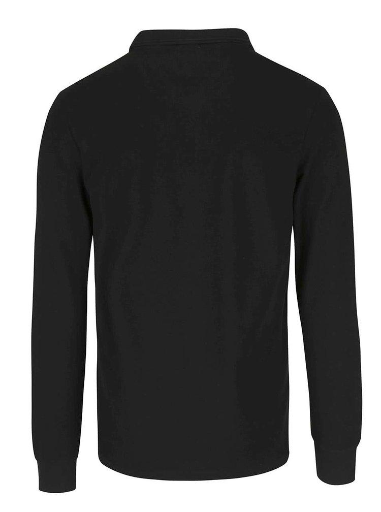 Bluza polo neagra Original Penguin Waffle Winston